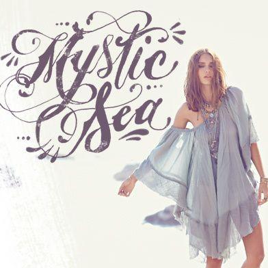 Mystic Sea on Free People  nice typography/watercolor script