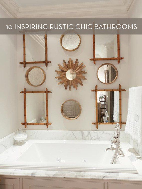 best 25 rustic chic bathrooms ideas on pinterest rustic saunas rustic chic and small bathroom paint colors - Rustic Chic Bathroom Decor