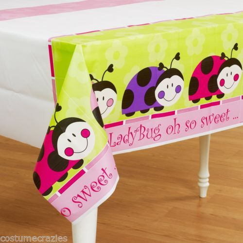 LADYBUG-LADYBIRD-PARTY-Table-Cover-Tablecloth-137cm-x-274cm