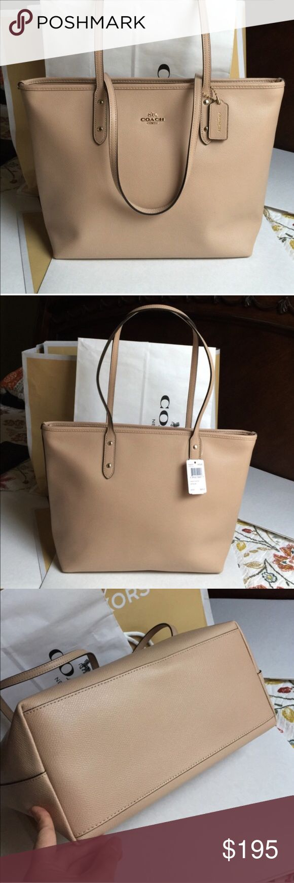 Coach Tote Bag 100% Authentic Coach Tote Bag, brand new with tag!Beechwood Color. Coach Bags Totes