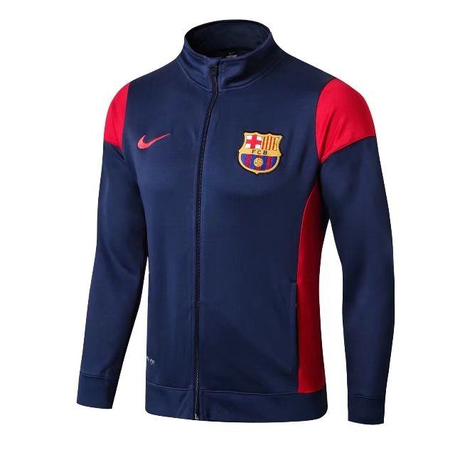 Barcelona Jersey 2017-18 Blue Soccer Jacket