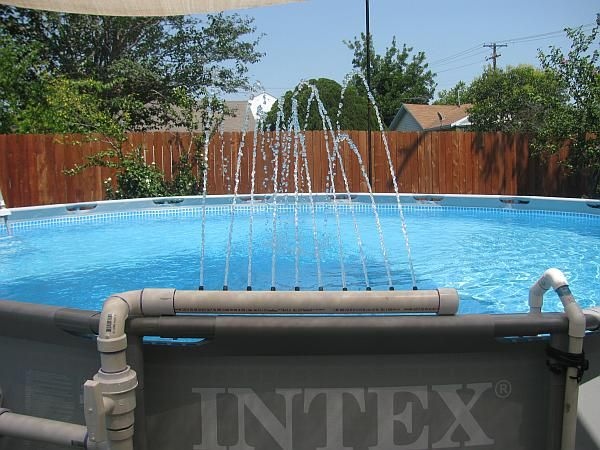 Swimming Pool Fountain Ideas amazing outdoor kitchen you want to see wow this space is gorgeous what Custom Pvc Pipe Adapter For Intex Pools Page 6