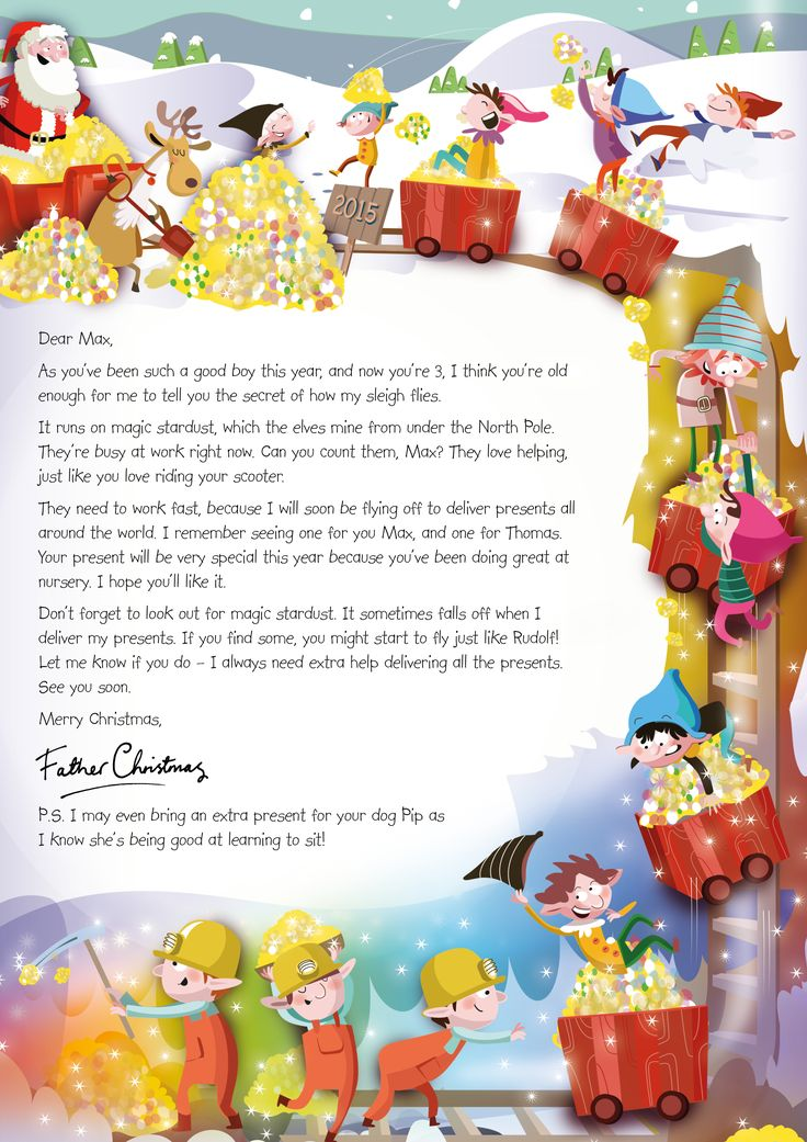 Best Letters From Santa Images On   Christmas Letters