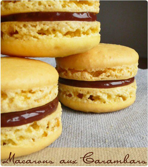 Macarons aux carambars by Chef Nini