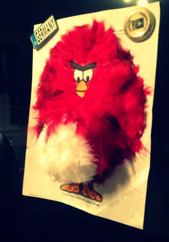 Turkey tom disguised as angry bird