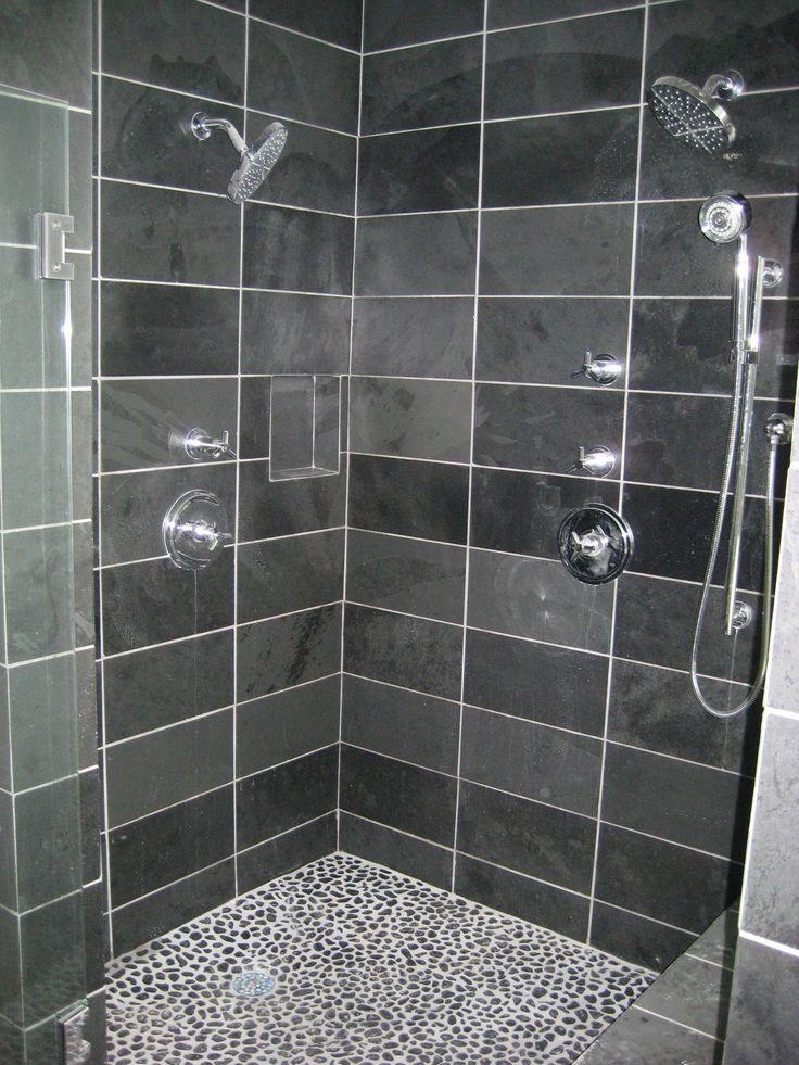 26 Simple Grey Pebble Tiles Bathroom