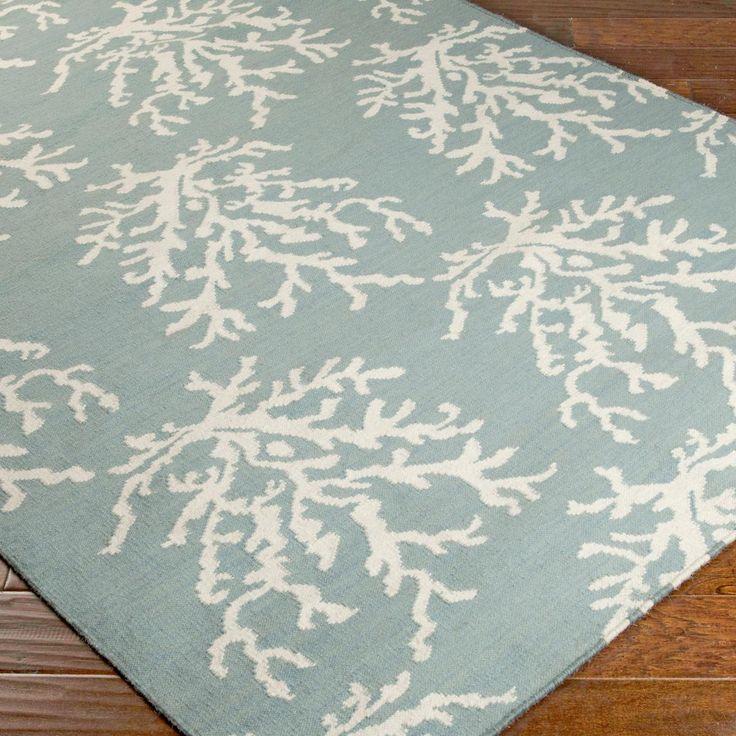 Sea Coral Dhurrie Rug Blue Green Or Grey Dhurrie Rugs