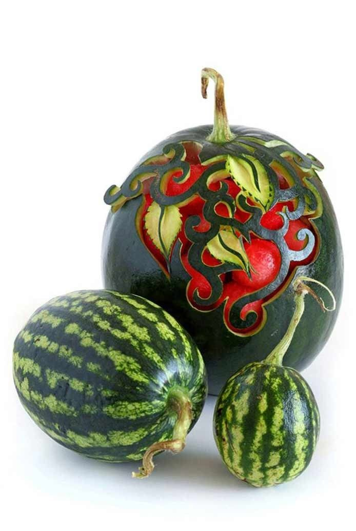 Best Fruit Veggie Carving Images On Pinterest Fruit Carvings - Incredible sculptures carved watermelon