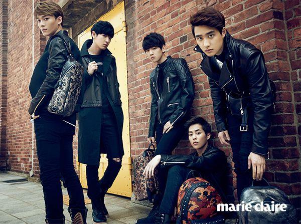 EXO Marie Claire Korea October 2014 Look 2