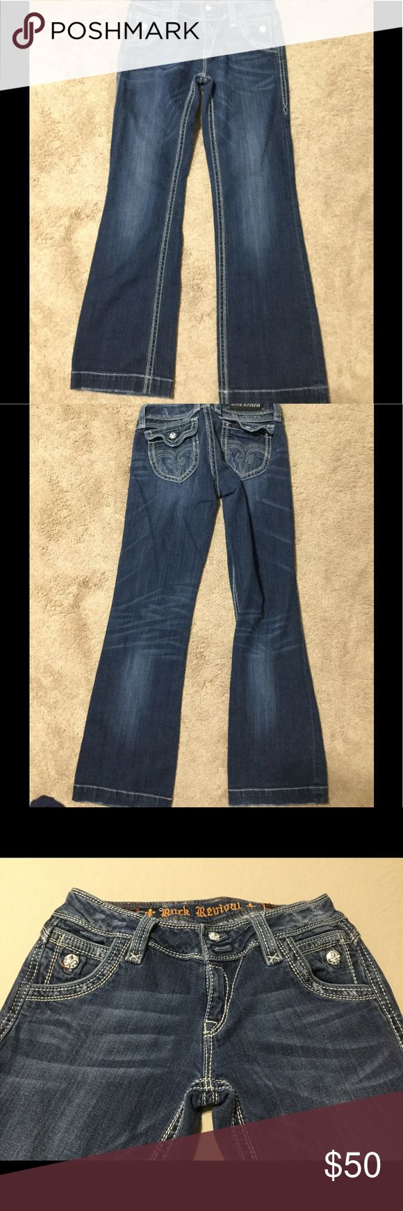 "Rock Revival Elizabeth Wide Leg Women's Jeans W29 .Rock Revival Elizabeth Wide Leg Women's Jeans Waist 29 Length 31"". Pre owned but in great shape. Rock Revival Jeans Flare & Wide Leg"