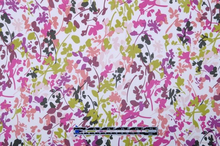 Mood Fabrics : New York Fashion Designer Discount Fabric | 301557 Multicolor Floral Italian Stretch Cotton Sateen (pencil skirt)