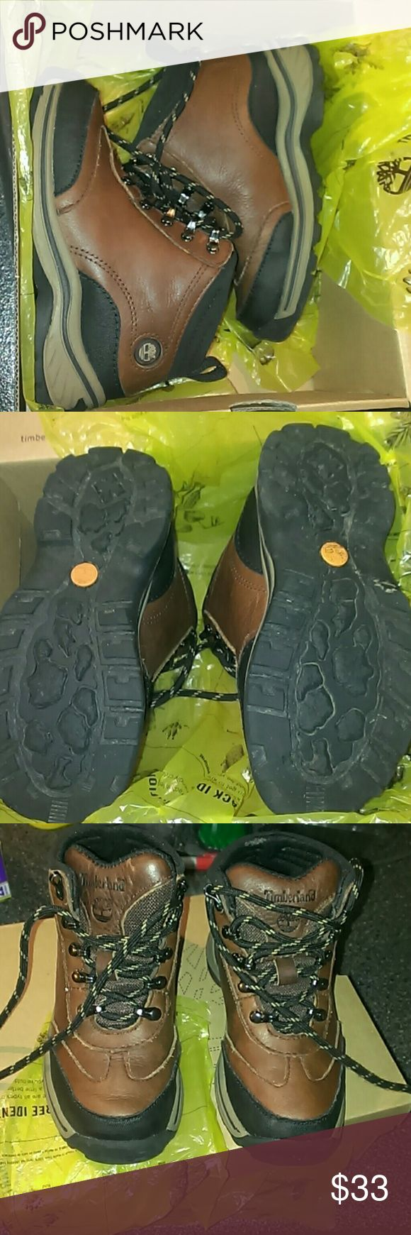 Boy Timberland boots EUC practically brand new size 10.5c Timberland Shoes Boots