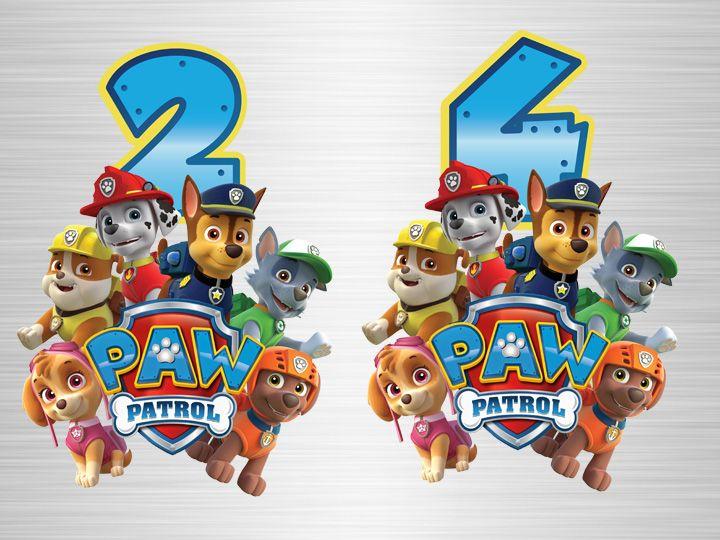 It S A Paw Ty Paw Patrol Geburtstagsshirt Und Buchstaben Paw