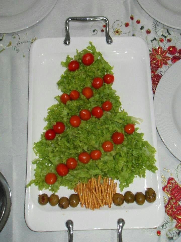 enfeites de natal - salada arvore de natal - ceia
