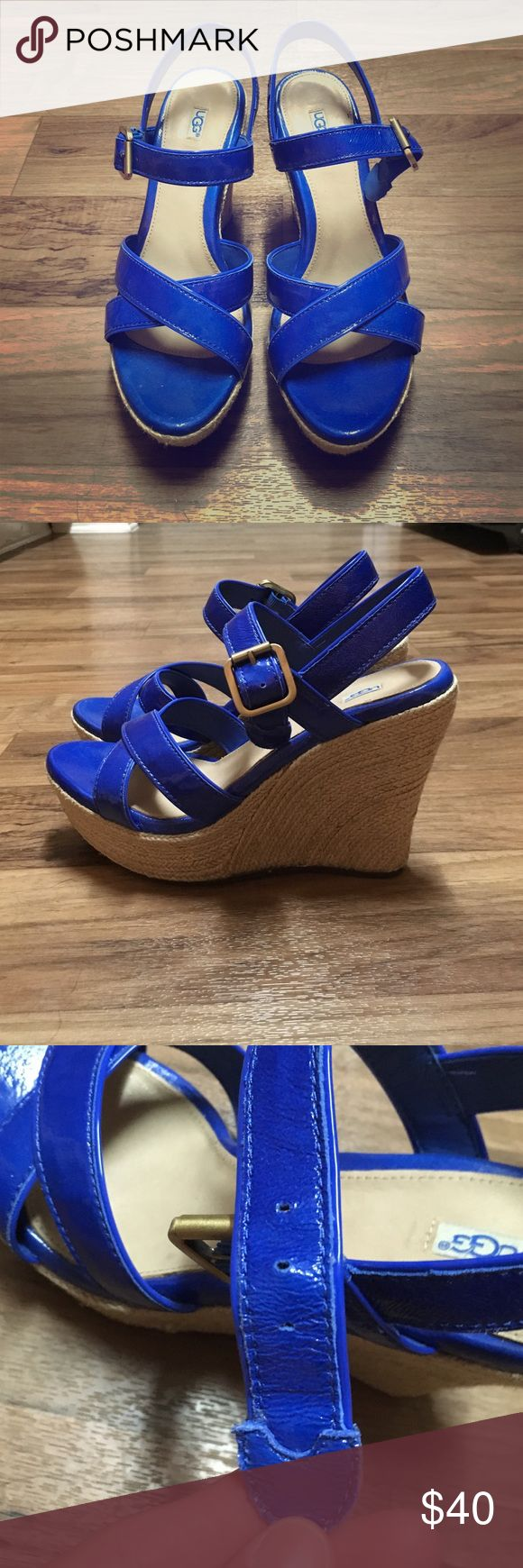 Ugg royal blue wedges 7.5 Ugg Royal blue wedges 7.5. Very gently used! UGG Shoes Wedges