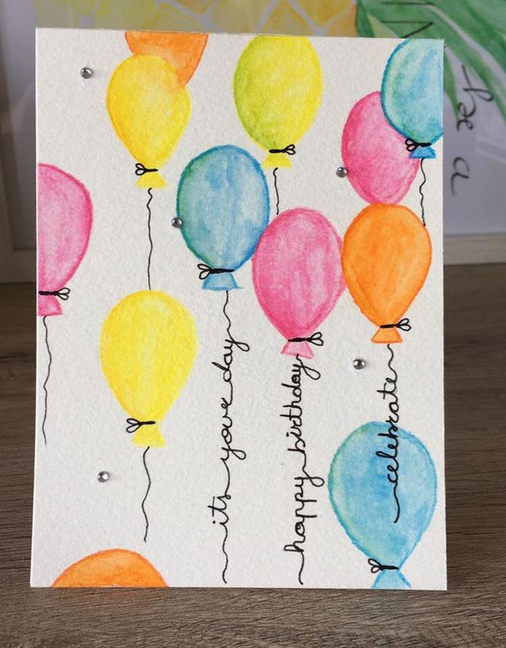 Как можно на день рождения открытка разрисовать