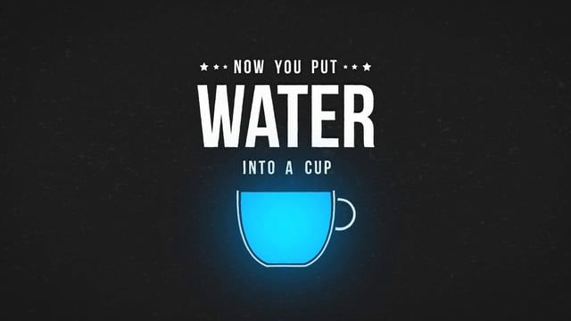 "Kinetic Typography of Bruce Lee's famous quote ""Be water my friend"".  www.aoriol.com"