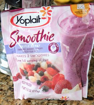 Yoplait Smoothies, Almond Milk, and Carnation Instant Breakfast powder = refreshing protein shake that is so good after a morning workout