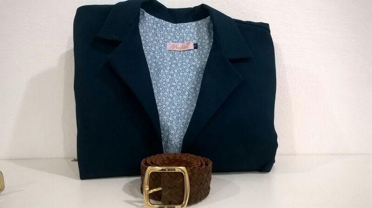 Blazer azul + cinto de cuero by Si chiama Paolina♡