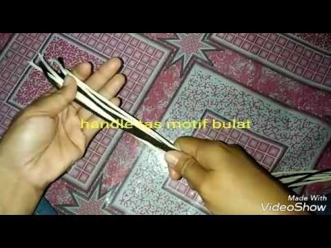 Mudah banget membuat handle tas motif bulat - YouTube