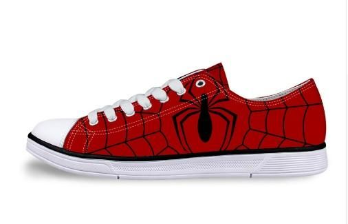 64ba4172a659 Spiderman Unisex Low Top Canvas Shoes (U.S Size) in 2019