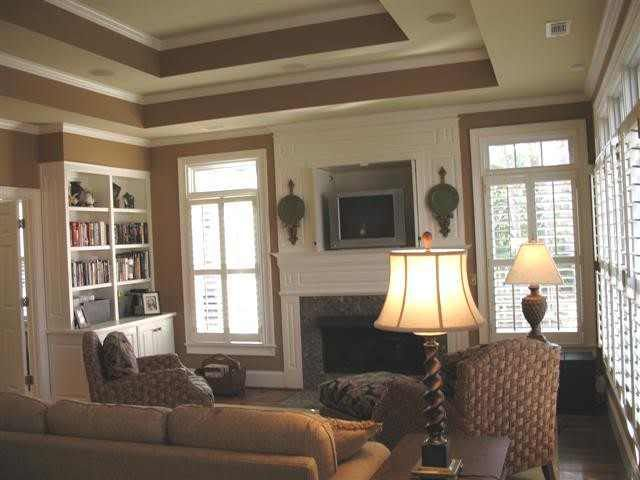 How to paint tray ceilings with color home decorating for Ceiling paint colors ideas