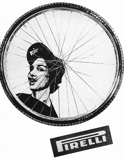 "Pirelli ""Stella"" tire _ 1952 poster detail. By stronglight - Bob Hanson"