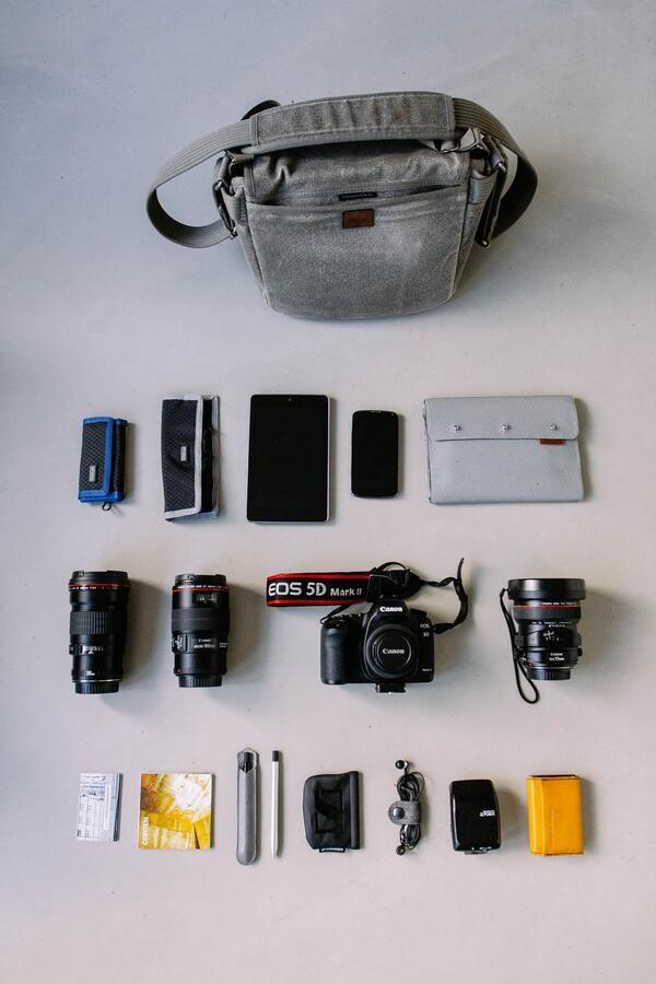 TWITTER: New tools ⇨ new layout of my @thinkTank Photo #retrospective10: #Canon gear, #Nexus devices @AJOTO pens #primeshooter - Bas Gijselhart (@Bas Gijselhart)