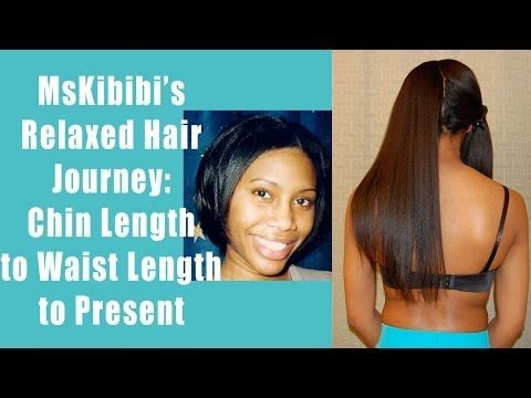 My Relaxed Hair Journey - Chin to Below Waist Length - YouTube