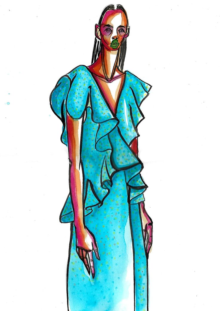 Fashion Illustration for Mulberry ss17 via Arianna Razzano. Click on the image to see more!