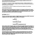 This activity includes five pages of notes and eight exercises (approximately 165 sentences total) on the five basic sentence patterns (S-V, S-V-DO...