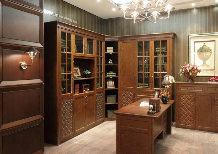 Casabella biblioteca en madera de cerezo puertas caladas for Puertas de calle de madera