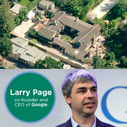 This is the home of Larry Page, co-founder and CEO of Google. Share with us pictures of your dream home, destination, car, air craft….let your dreams soar high!