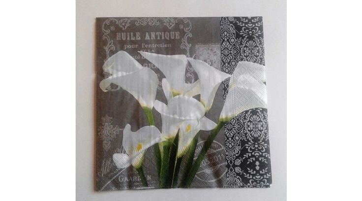 Kálás, virágos antik stílusú szalvéta - KreatívHobbyDekor webáruház