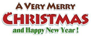 Merry Christmas Clipart and Happy New Year