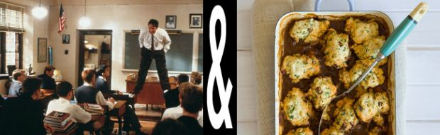 Which film is on your top 100 list? Here's one of mine: Dead Poets Society movie paired with private school food. Check out my review here...