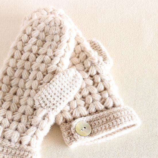 かぎ針編み玉編みのミトン- 編み物キットオンラインショップ・イトコバコ