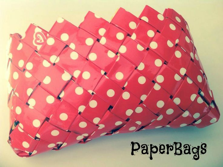 paperbag with polka dots
