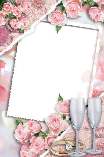 Beautiful Transparent Wedding Photo Frame