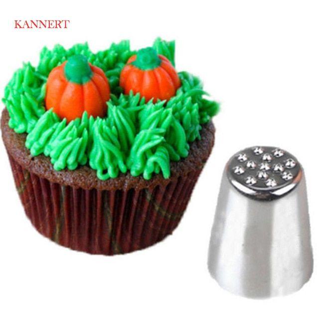 Creative Grass Icing Nozzle Piping Tips Sugarcraft Cream Cake Cupcake Decorating Tool Cake Decoration Free Shipping Review Cupcake Decorating Tips Cake Nozzles Piping Icing
