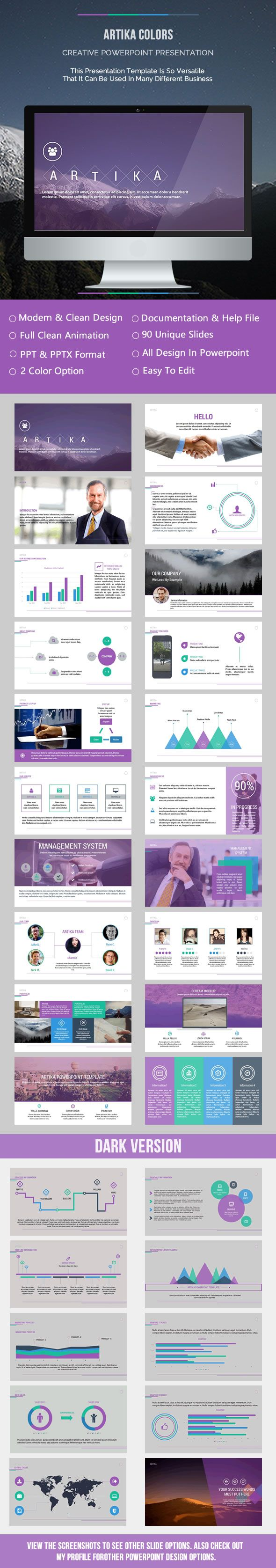 Artika Colors Presentation - Business Powerpoint Templates