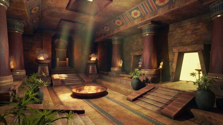 Egyptian temple rene fisher on artstation at https www for 3d wallpaper for home egypt