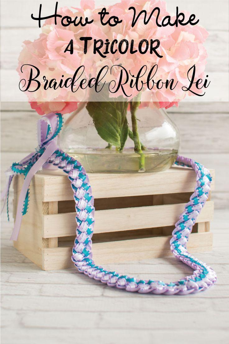 how to make graduation leis ribbon