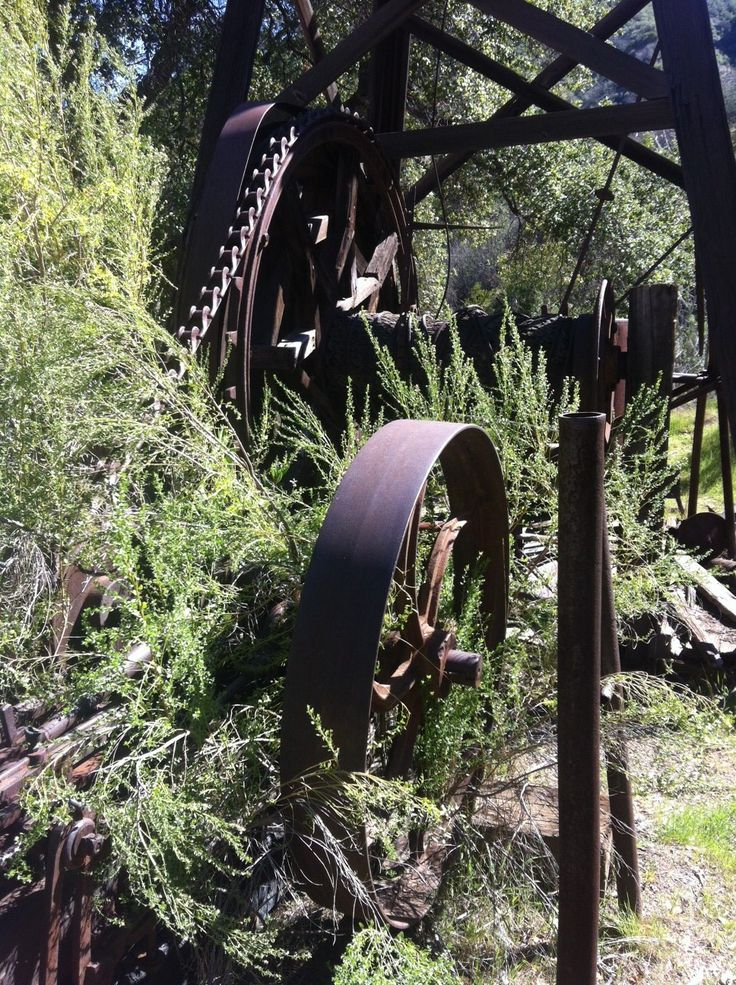 Remnants of California's pioneer oil town, Mentryville still exist at Pico Canyon.