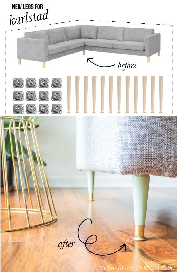 Replacing The Legs On Our Ikea Karlstad Sofa Diy