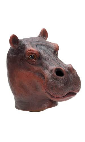 Hippo Latex Mask - Animal Masks