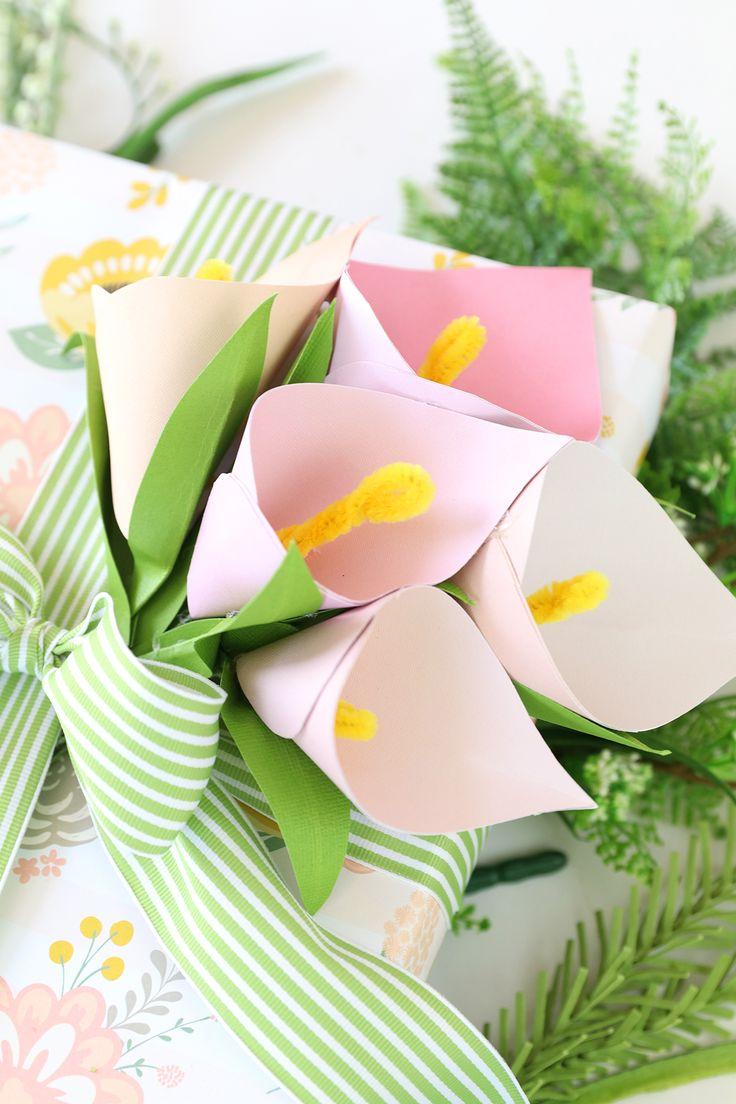DIY Paper Calla Lilies PayPal Motheru0027s