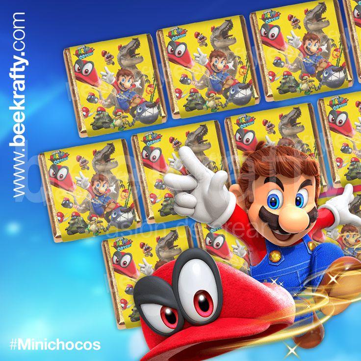 ¡Nos encanta Mario! En www.beekrafty.com personalizamos los minichocos con lo que quieras para tus momentos más felices. #minichocos #personalizado #mario #beekrafty #pasionporcrear