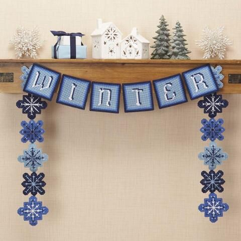 Craftways® Winter Garland Plastic Canvas Kit $17.99
