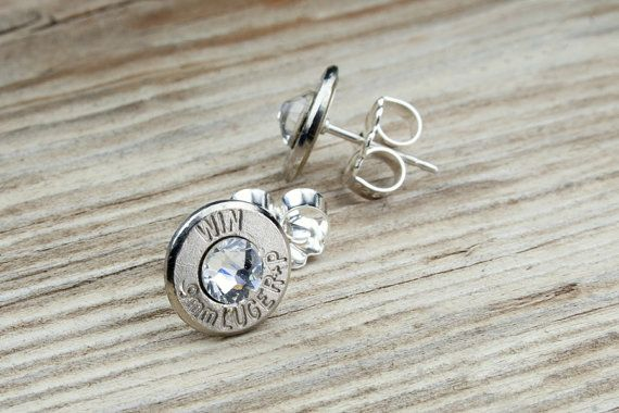 Classy Dainty Winchester .9mm Nickel Bullet Head by BulletDesigns, $24.95 ok i really need these like really bad
